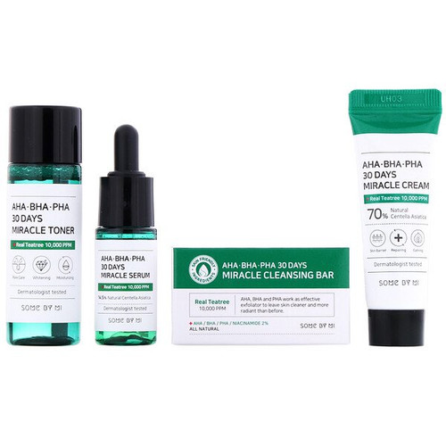 Some By Mi - AHA.BHA.PHA, 30 Days Miracle Starter Edition - 4 Piece Kit