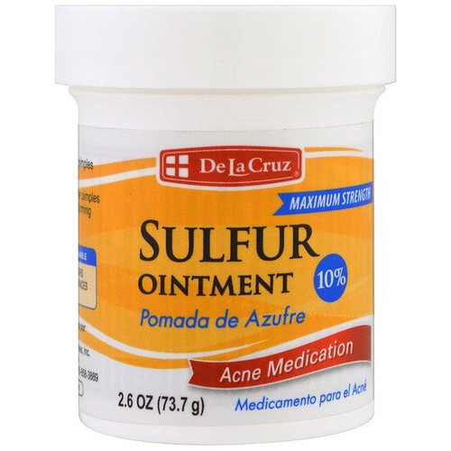 De La Cruz - Sulfur Ointment - Acne Medication - Maximum Strength