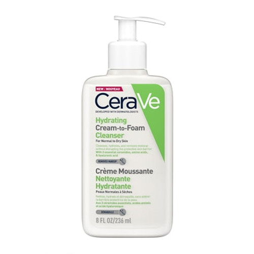 Cerave - Hydrating Cream-to-Foam Cleanser Normal to Dry Skin (236ml)