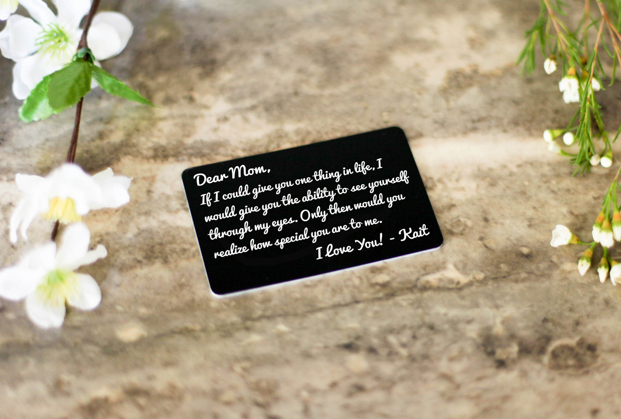 Personalized Wallet Card - How Special You Are Mom Grandma
