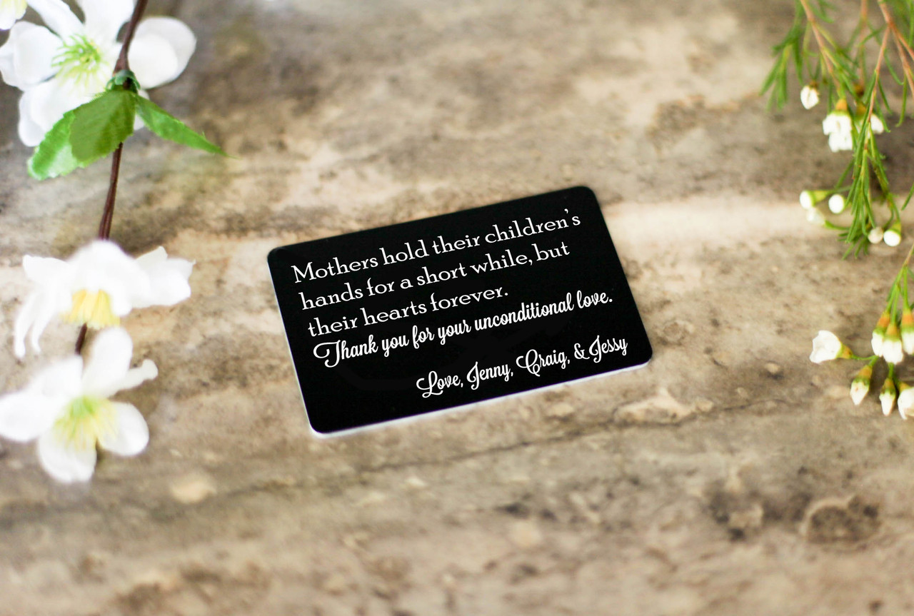 Personalized Wallet Card - Hold Hands & Hearts