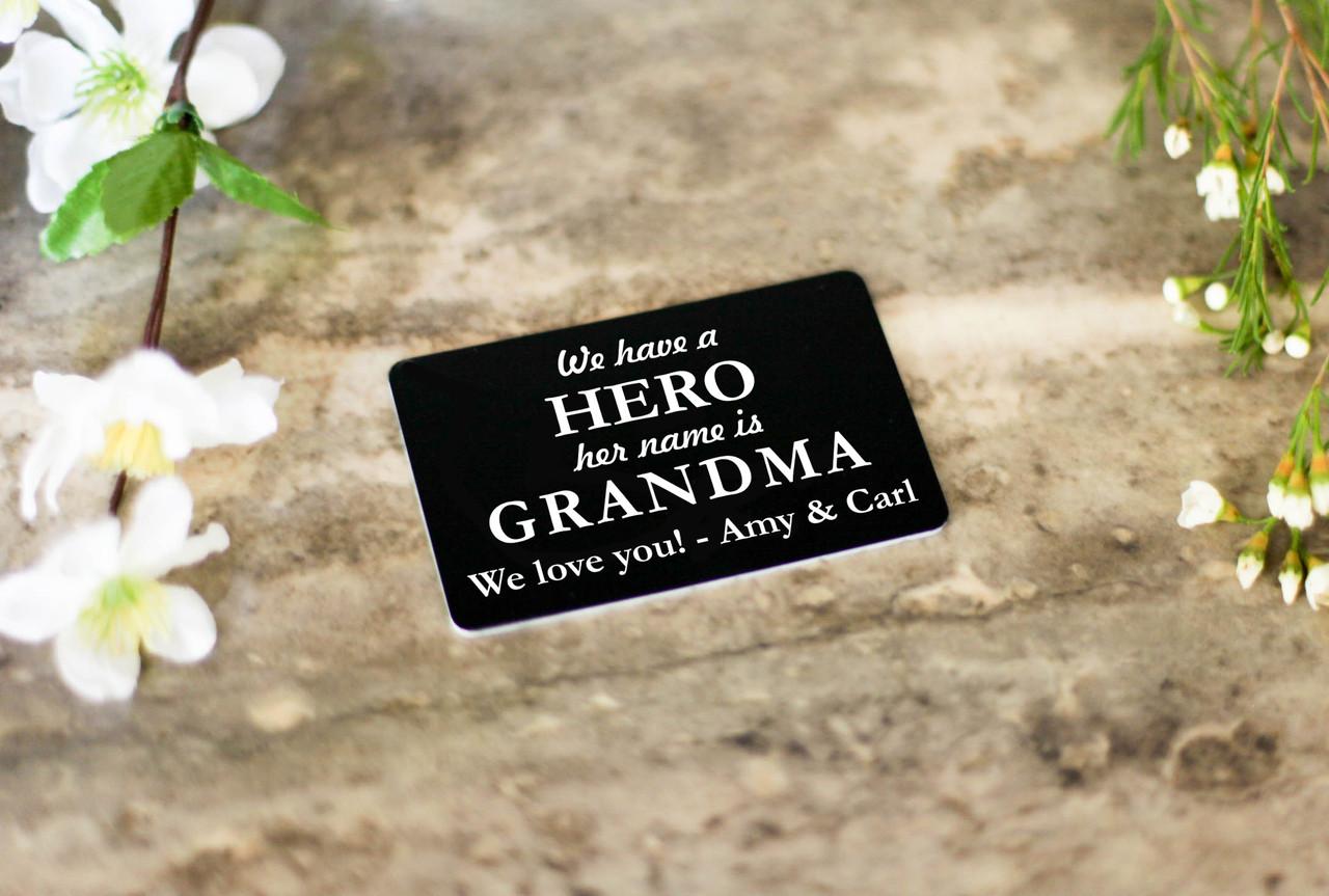 Personalized Wallet Card - Hero Grandma