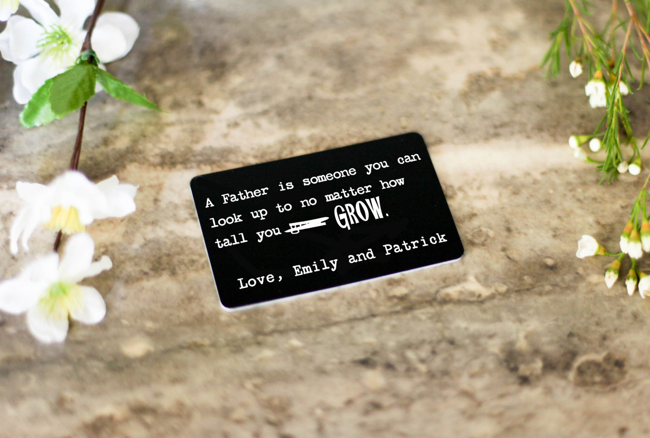 Personalized Wallet Card - Look Up To
