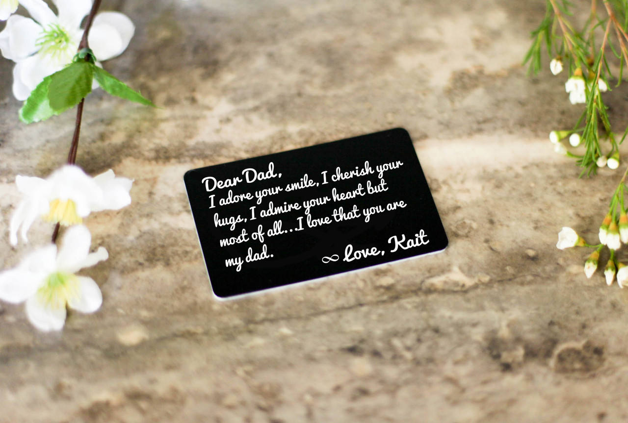 Personalized Wallet Card- Dad I Adore Your Smile