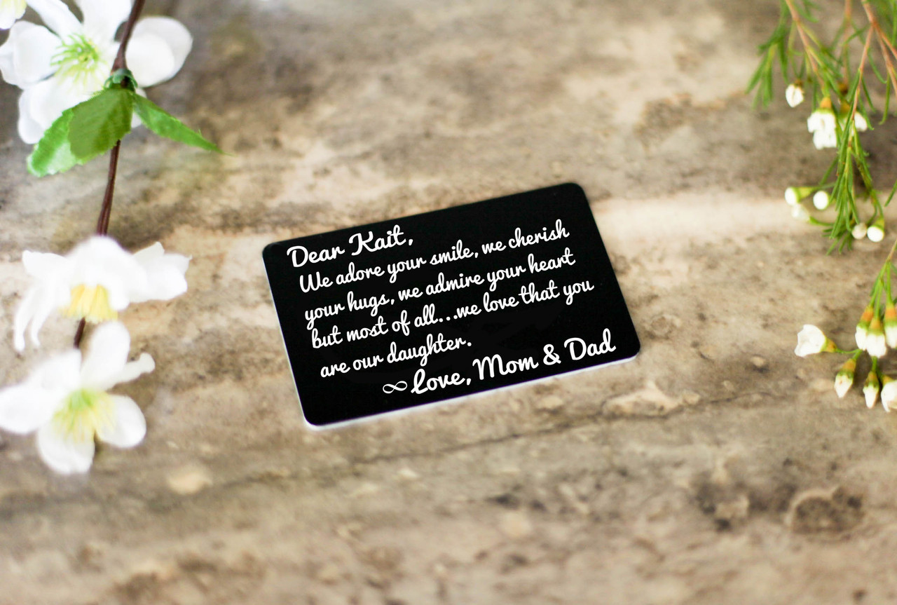Personalized Wallet Card - Daughter I Adore Your Smile