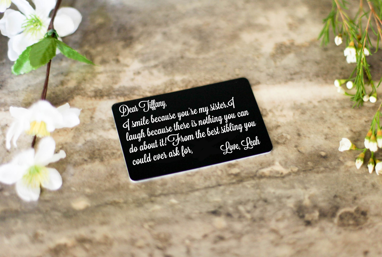 Personalized Wallet Card - I Smile Because