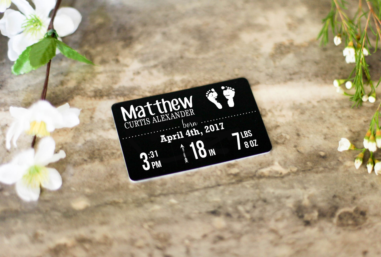 Personalized Wallet Card - Newborn Baby