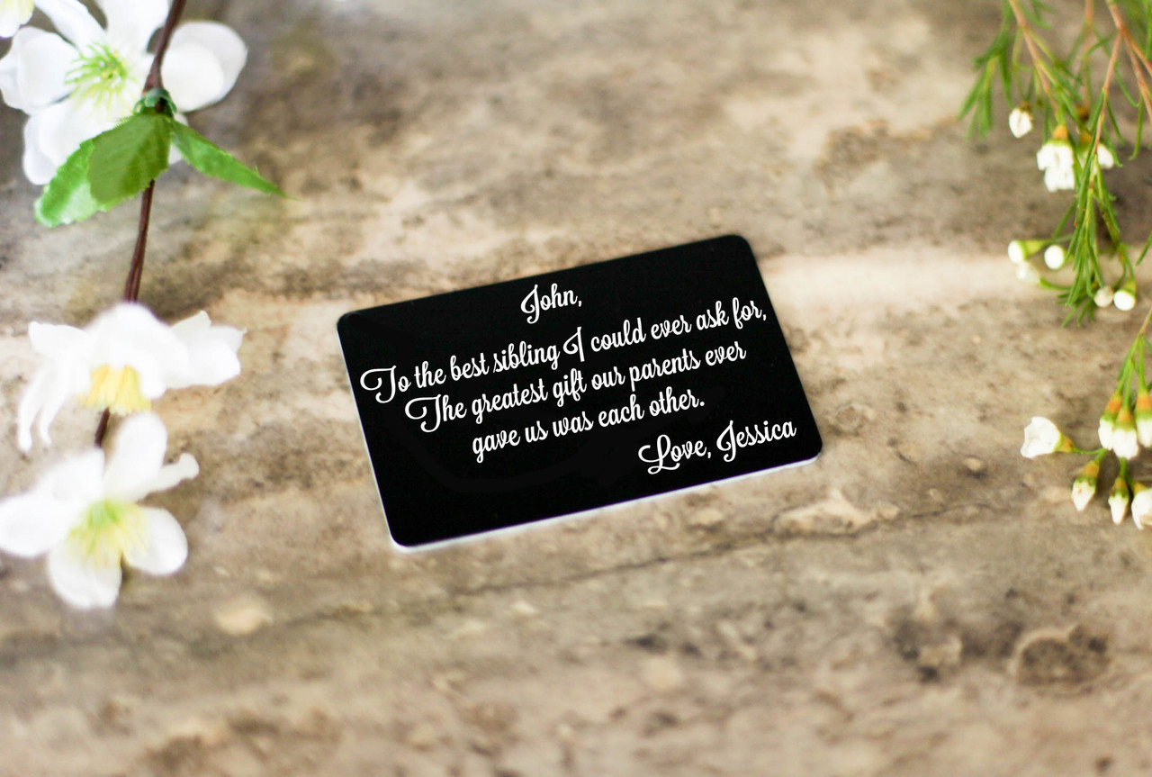 Personalized Wallet Card - Greatest Gift