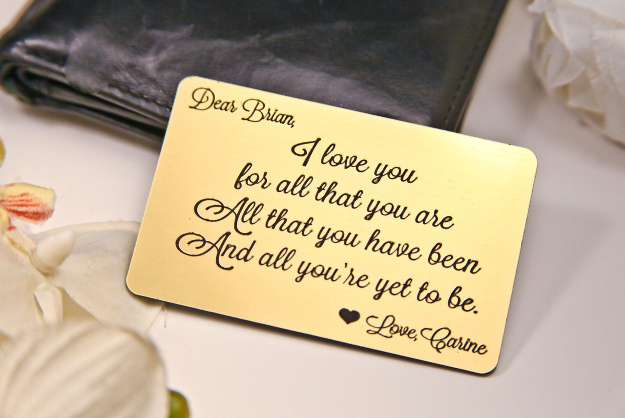 Groupon AU Personalized Wallet Card - I Love You For All That You Are