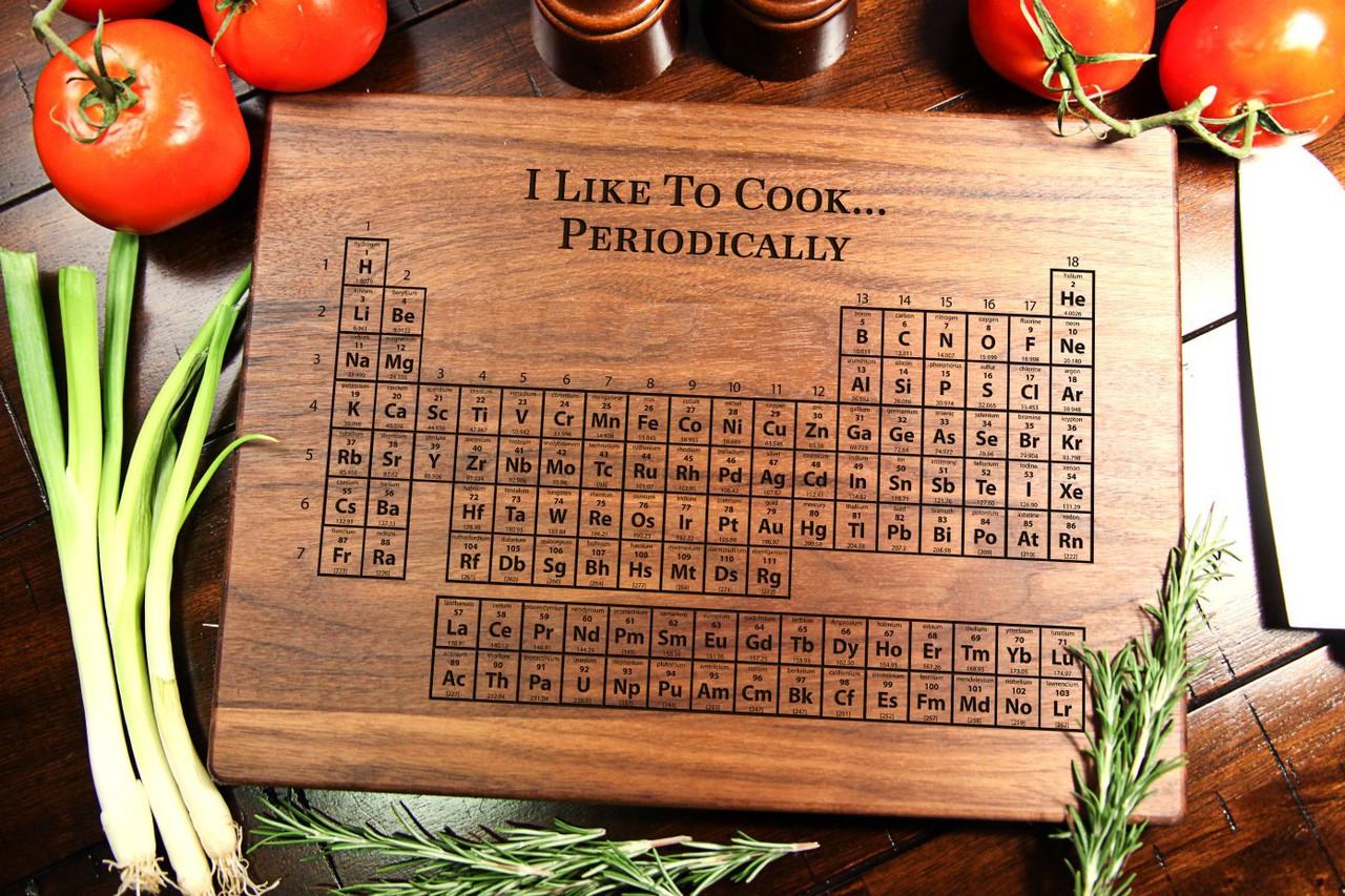 Walnut Personalized Cutting Board ~ Periodic Table