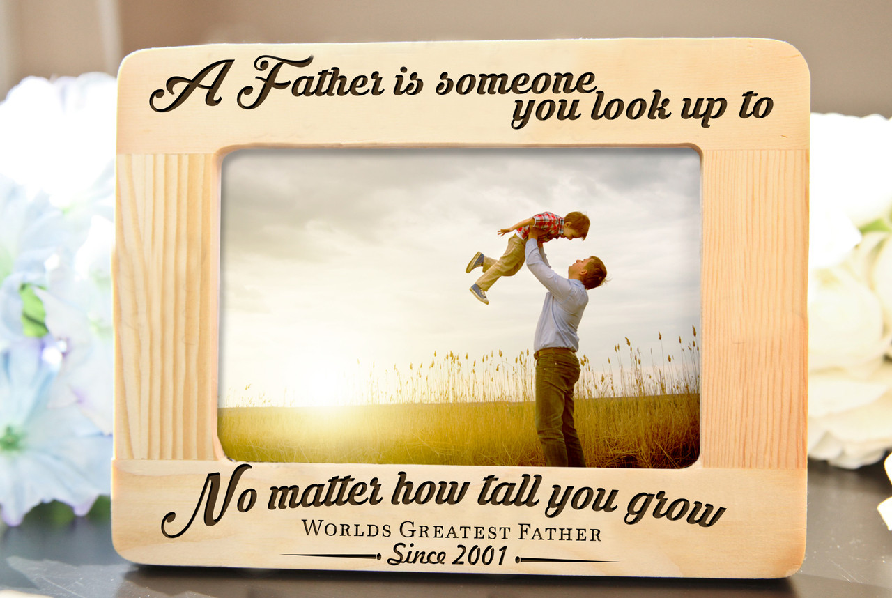 LUX - Personalized Picture Frame - A Father is Someone