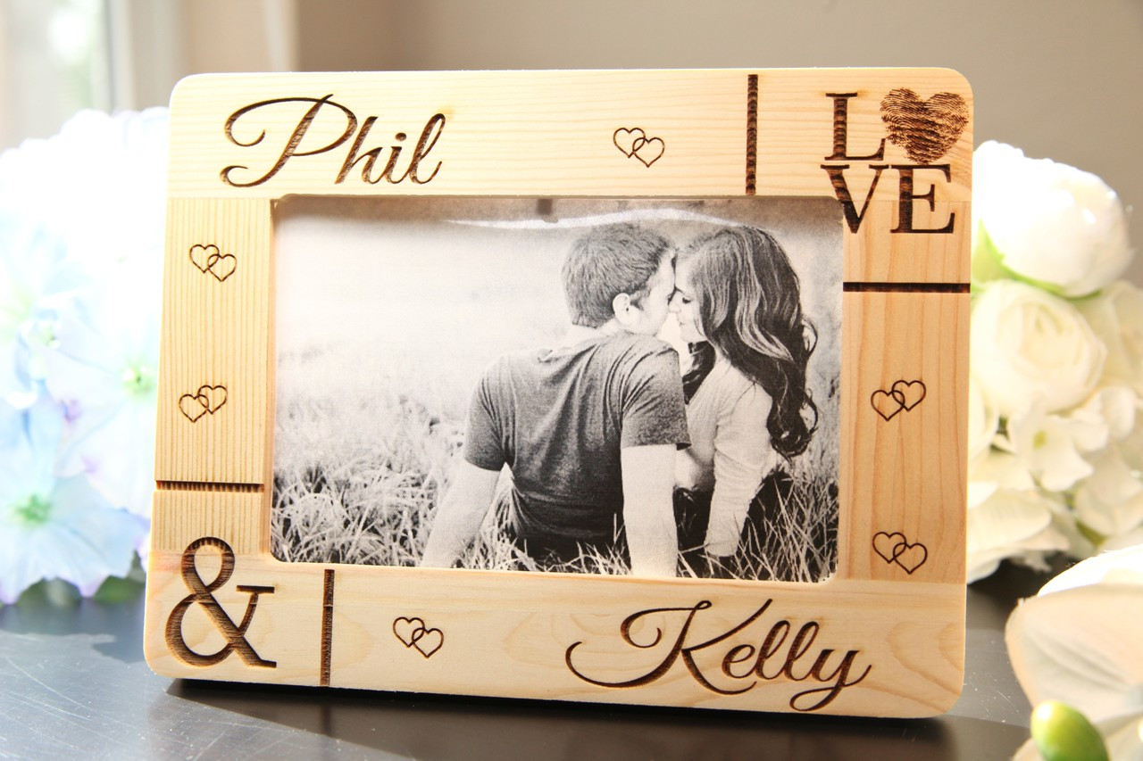 LUX - Personalized Picture Frame - Corner Names