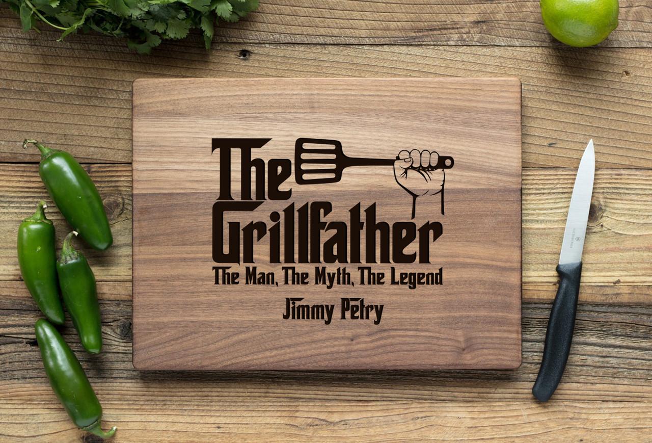 Walnut Personalized Cutting Board ~ Grillfather