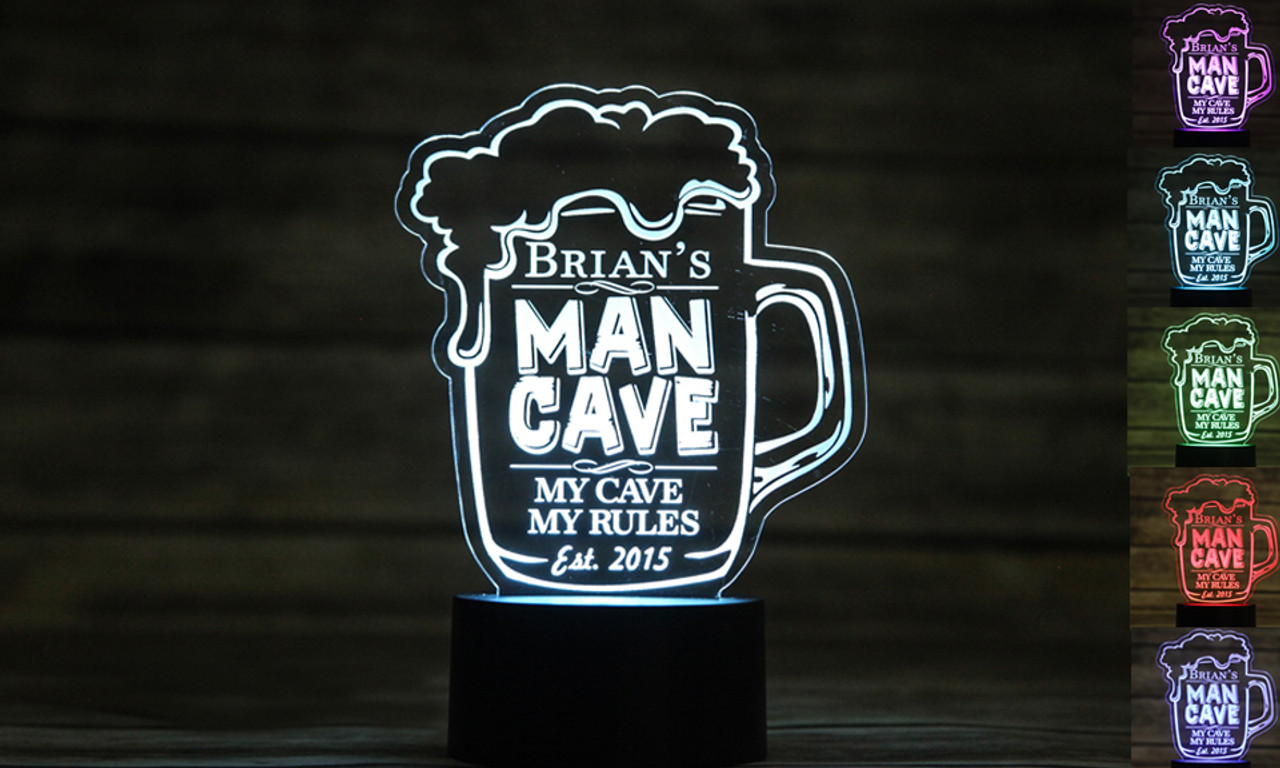 Personalized LED color changing  sign - Man Cave