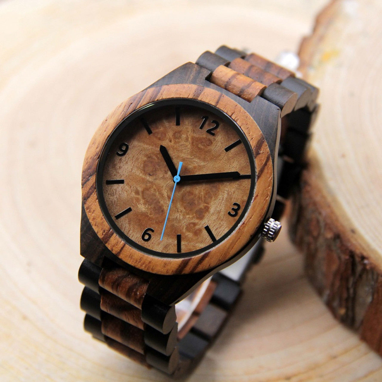 Wood Engraved Watch W#90 - Revive