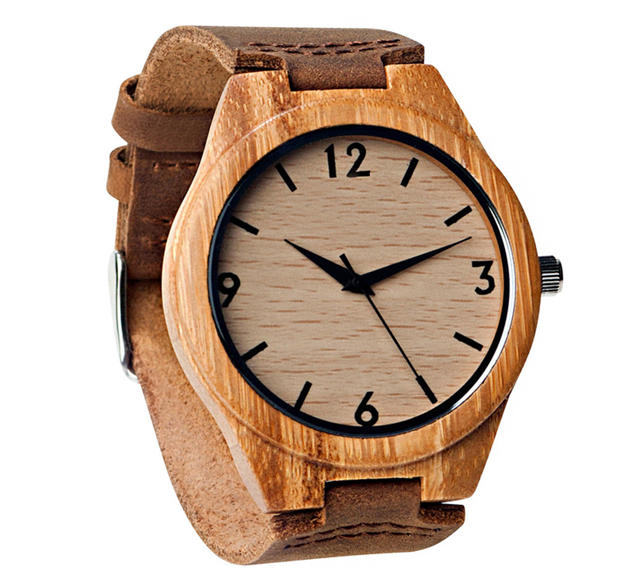 Wood Engraved Personalized Bamboo Watch W#67 - Rival
