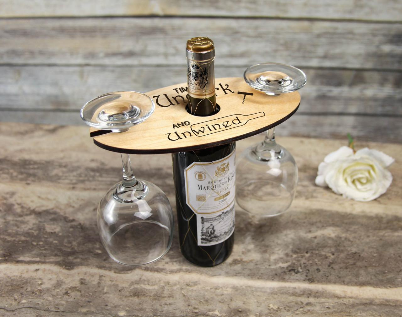 Groupon AU/NZ - Personalized Wine Caddy & Glass holder - Unwined