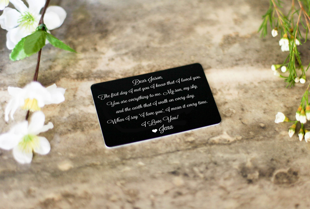 Personalized Wallet Card Insert - The First Day I Met You