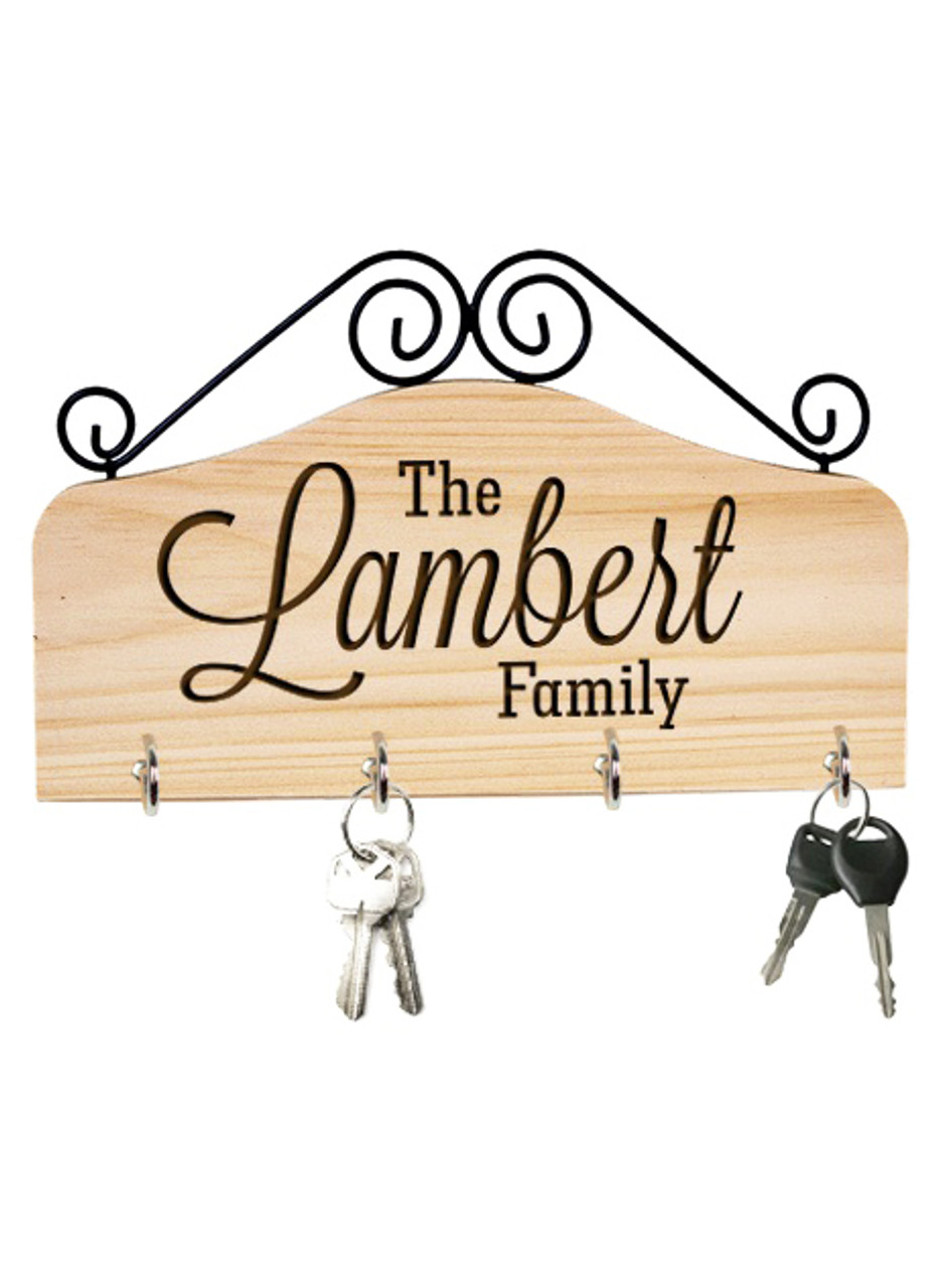Groupon AU/NZ - Personalized Family Key Holder - The Family
