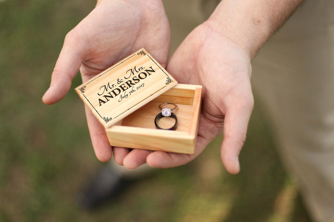 Groupon AU/NZ - Personalized Jewelry Box - Mr Mrs Vintage