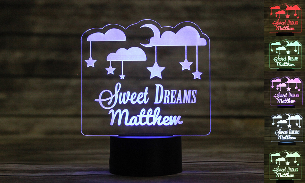LUX -Personalized LED color changing  sign - Sweet Dreams