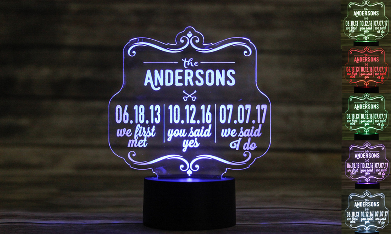LUX - Personalized LED color changing  sign - We first met