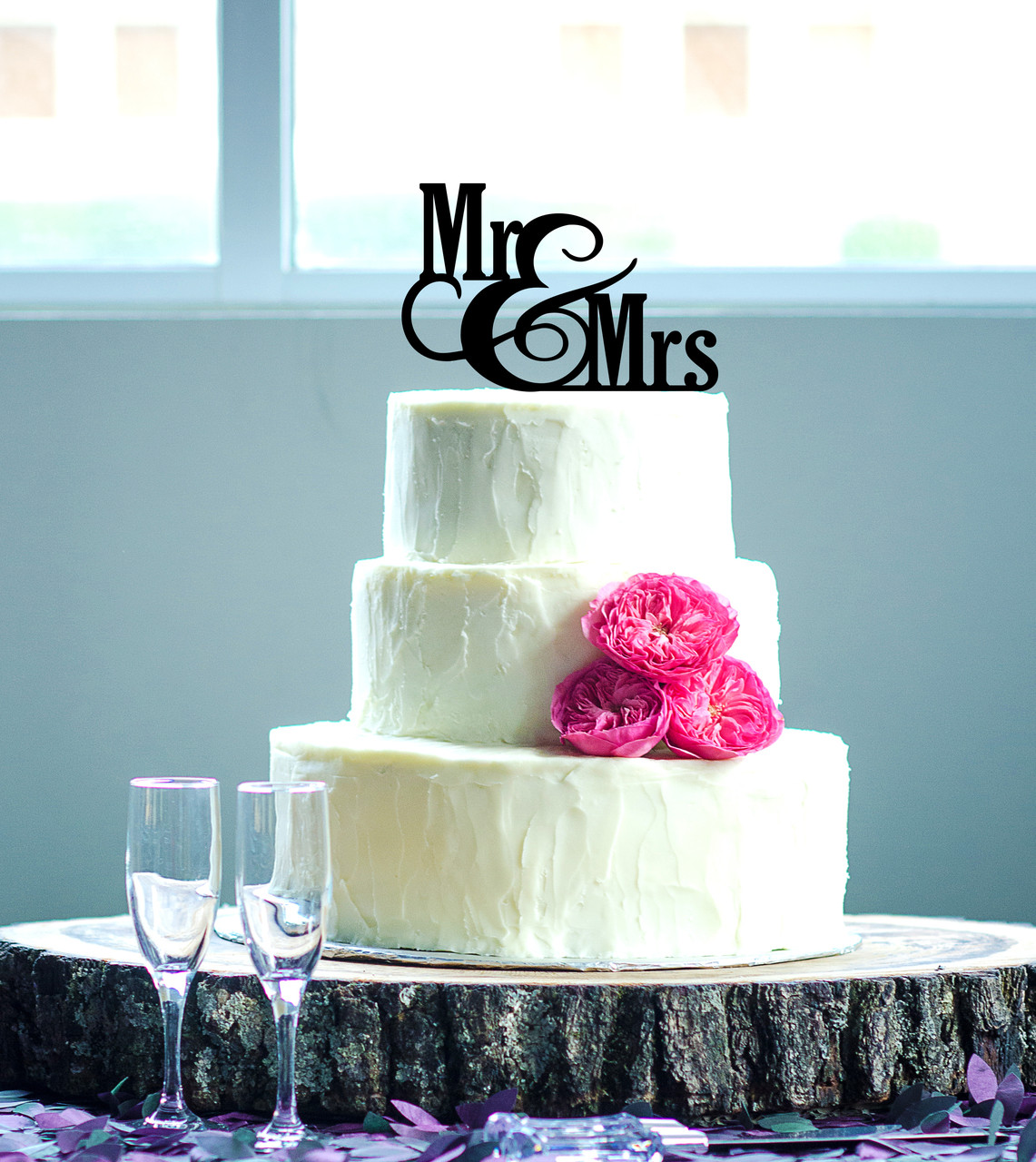LUX - Personalized Cake Topper - Mr & Mrs