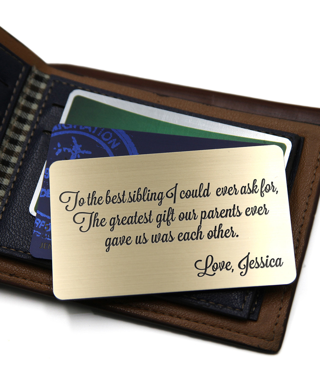 Grpn UK - Personalized Wallet Card - To the Best Sibling