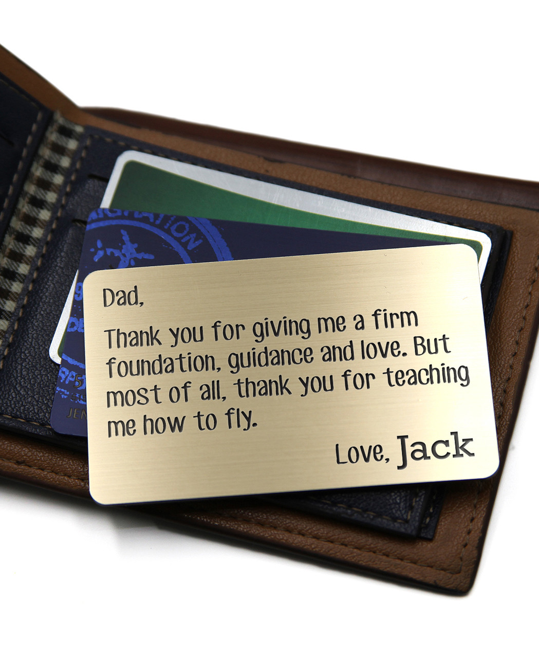 Grpn UK - Personalized Wallet Card - Dad Foundation