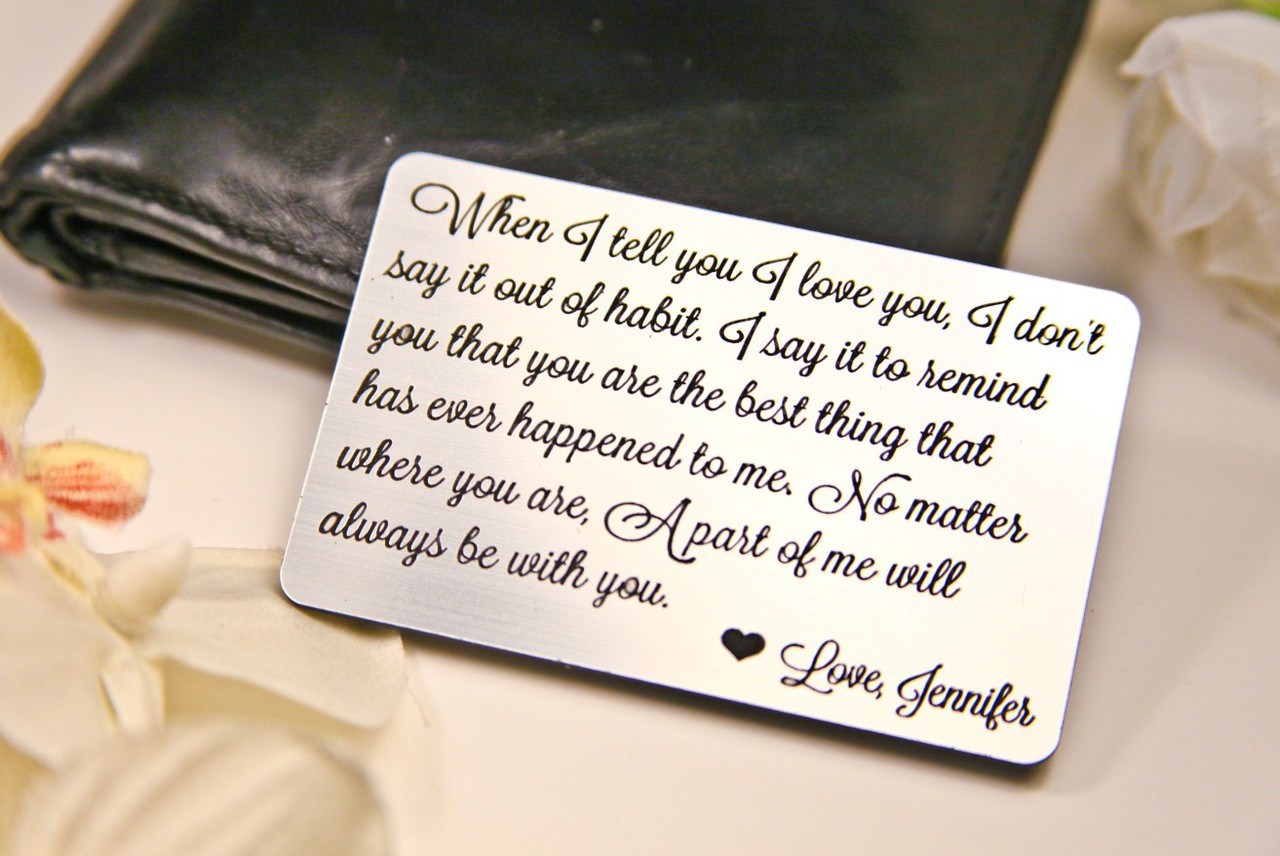Grpn UK - Personalized Wallet Card  - When I Tell you I Love You