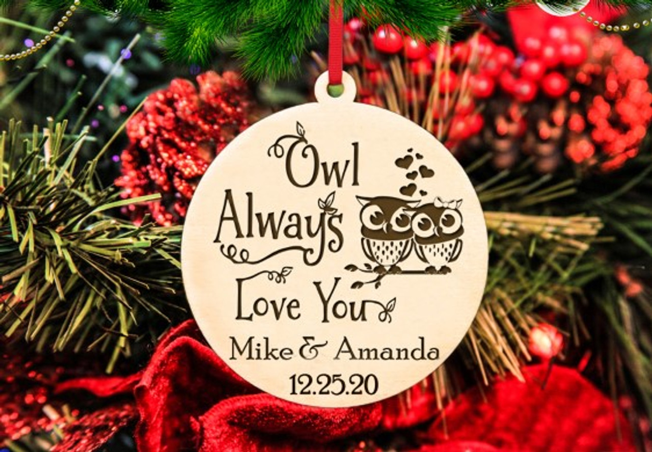 Personalized Christmas Ornament - Owl Love You