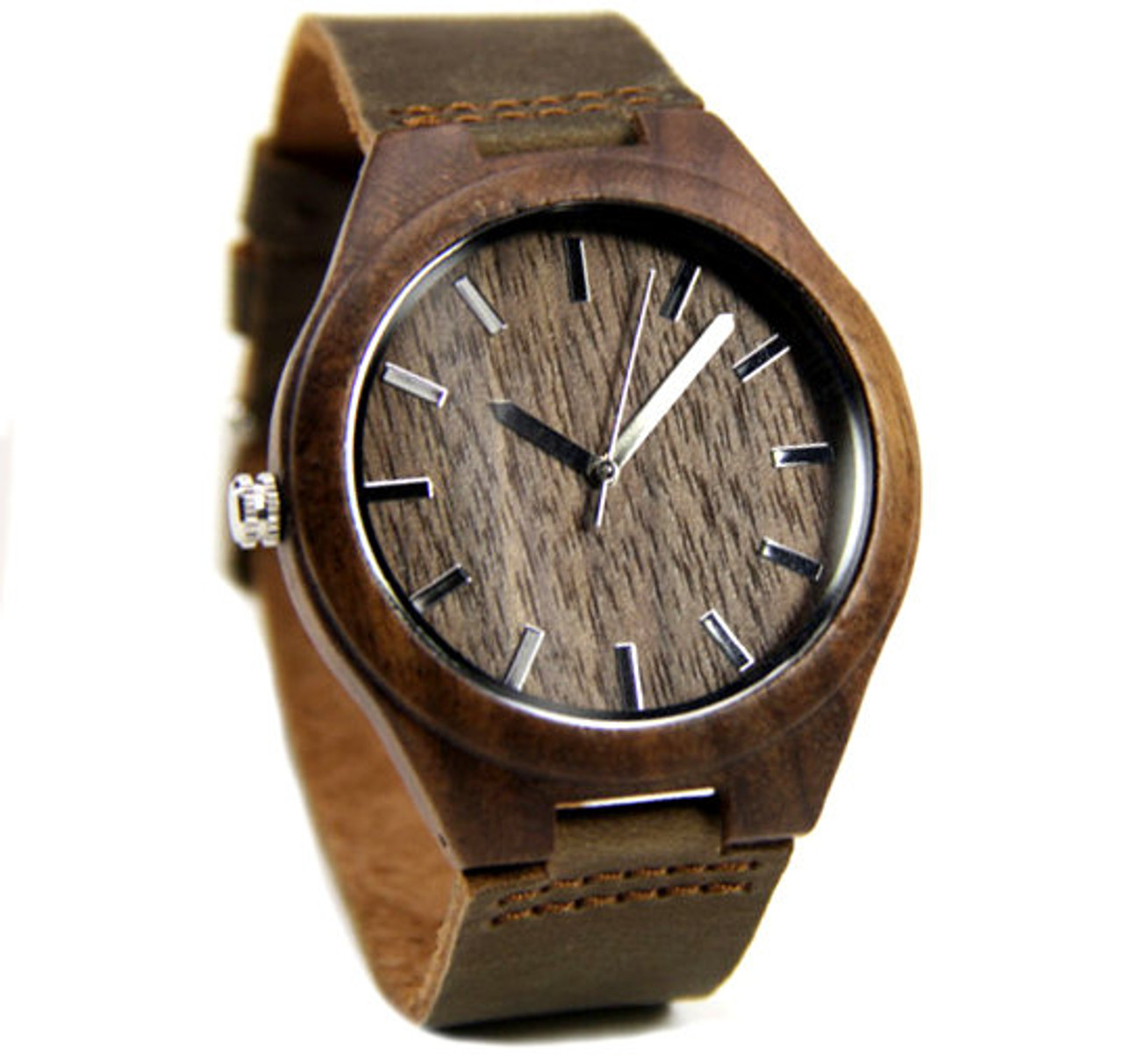 Grpn - Wood Engraved Watch W#79 - Rustic