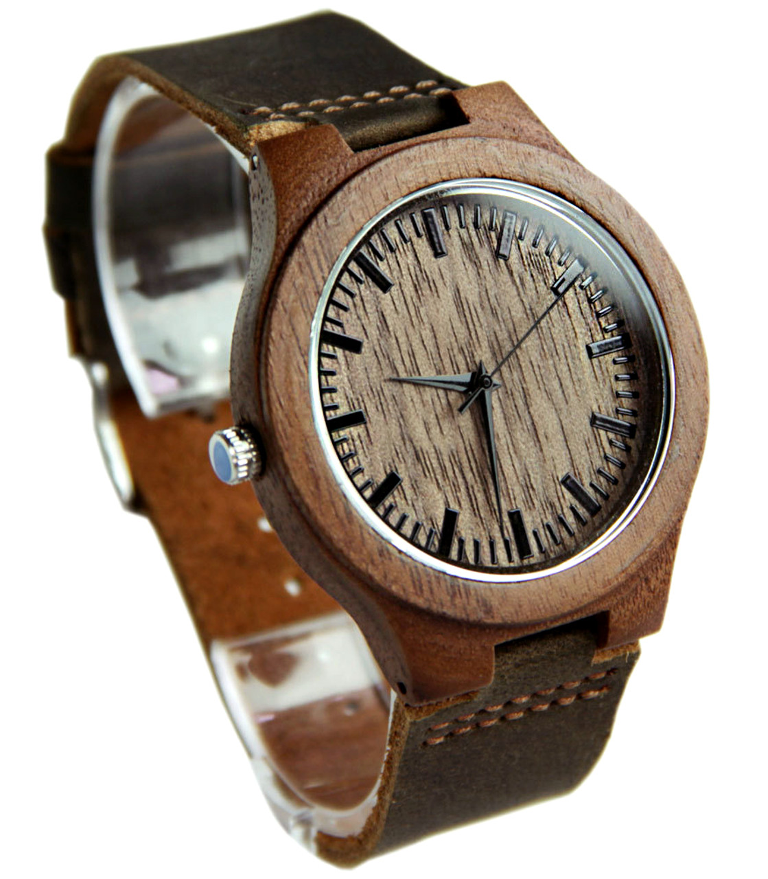 Grpn - Wood Engraved Watch W#85 - Woodland