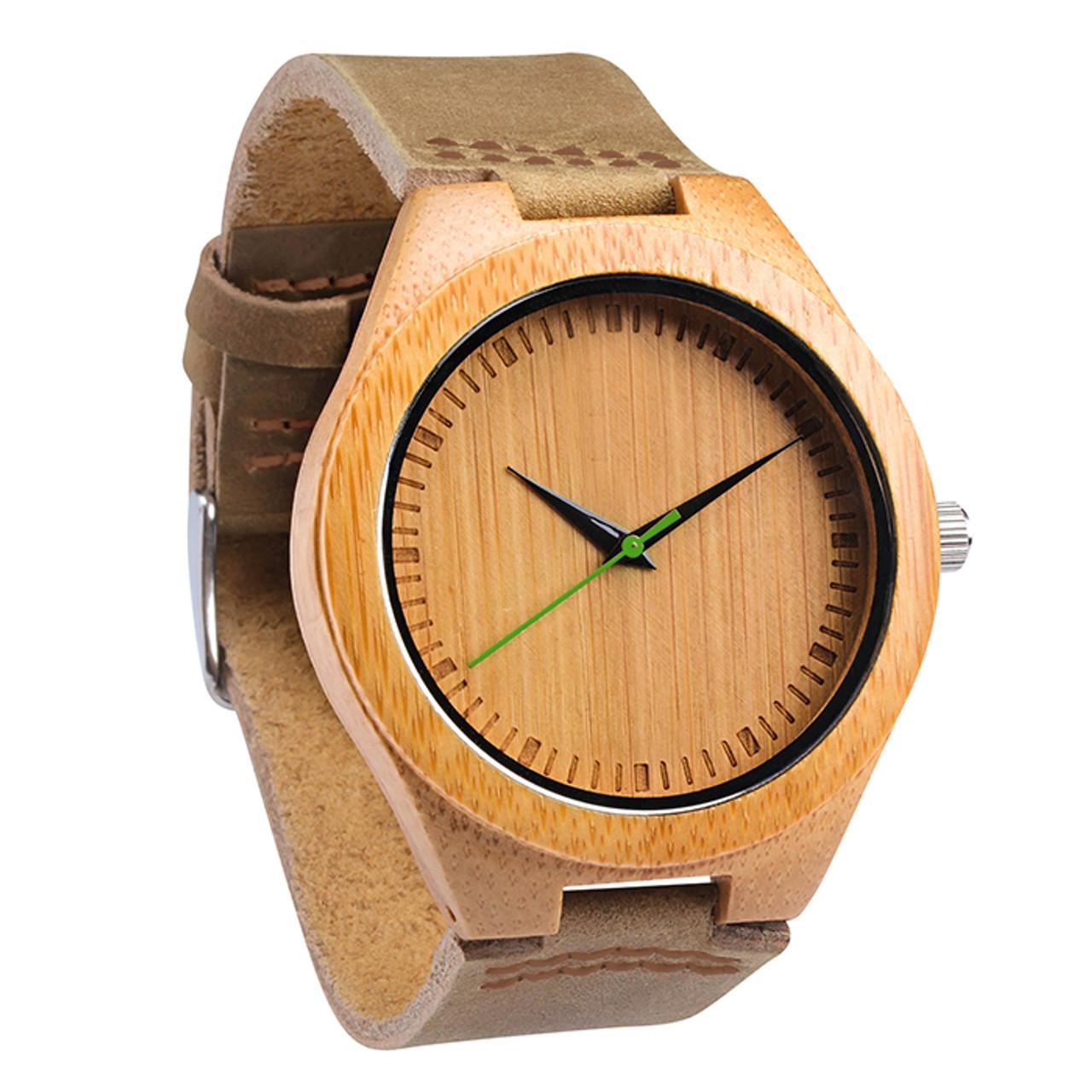 Grpn -Wood Engraved Watch W#63 - Verdent