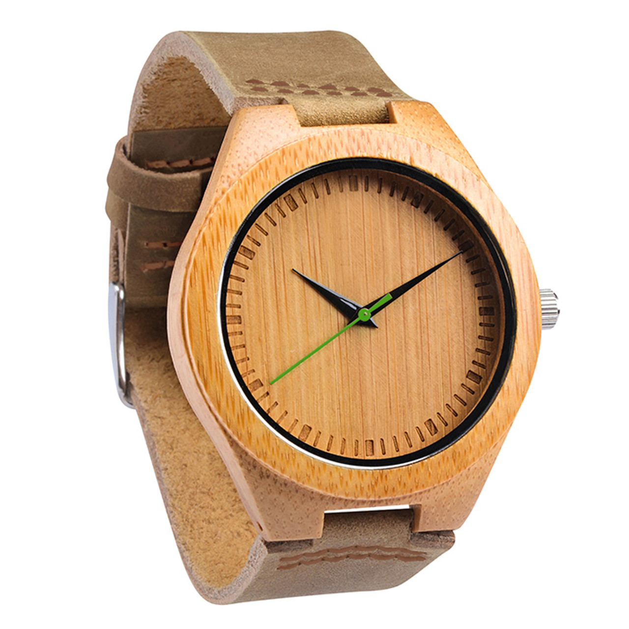 Grpn -Wood Engraved Watch W#63 - Verdent