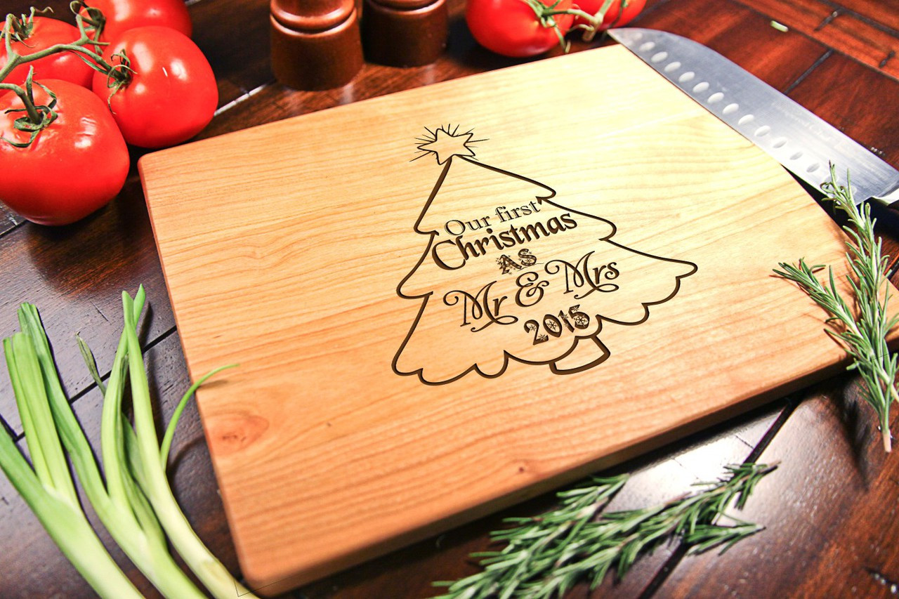 Cherry Personalized Cutting Board ~ Christmas Tree