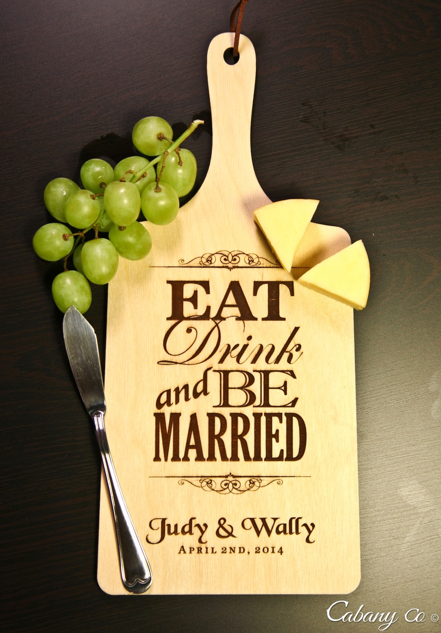 LUX - Personalized Serving Board - Eat Drink Be Married