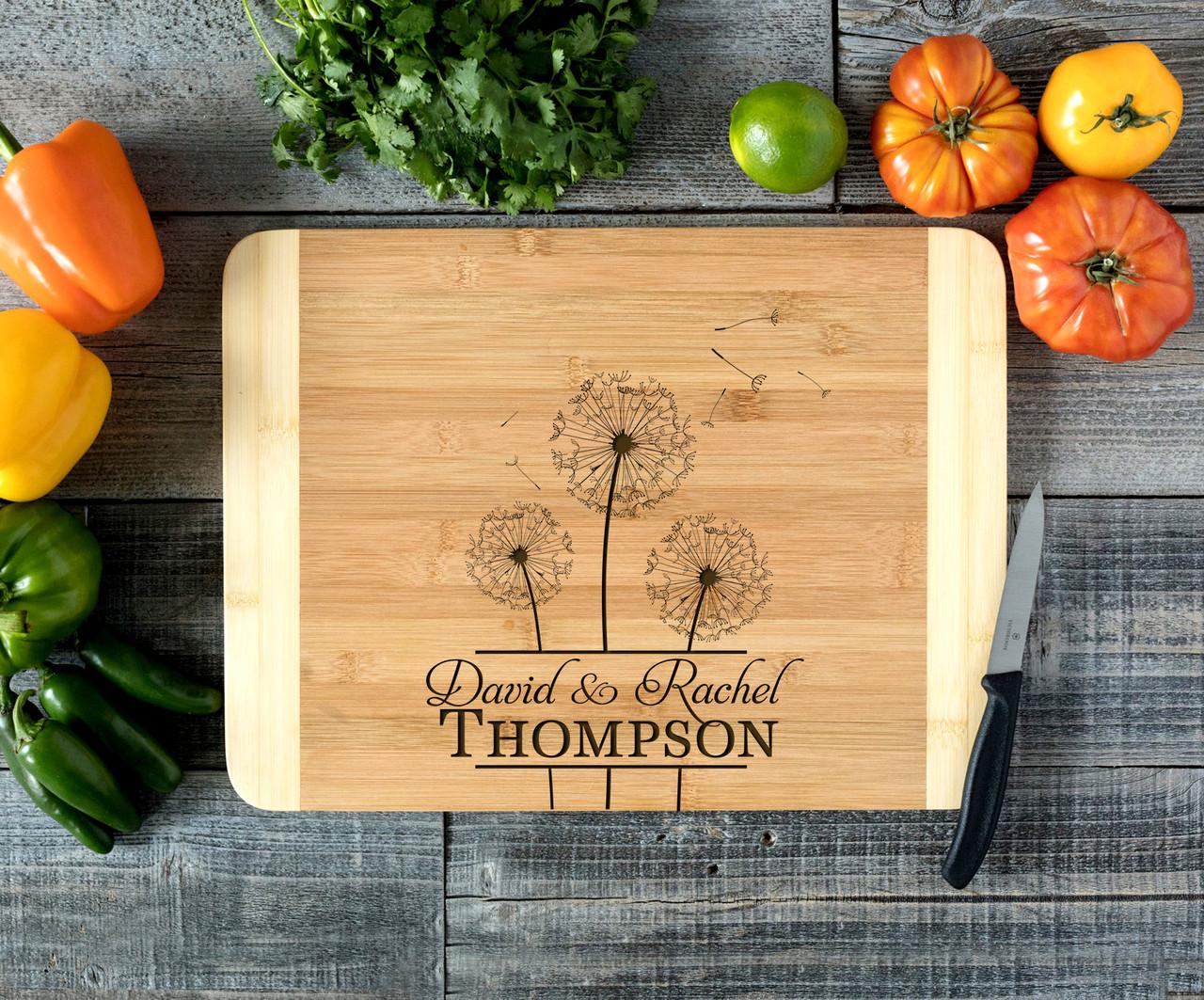 Center Dandelion Personalized Cutting Board HDS