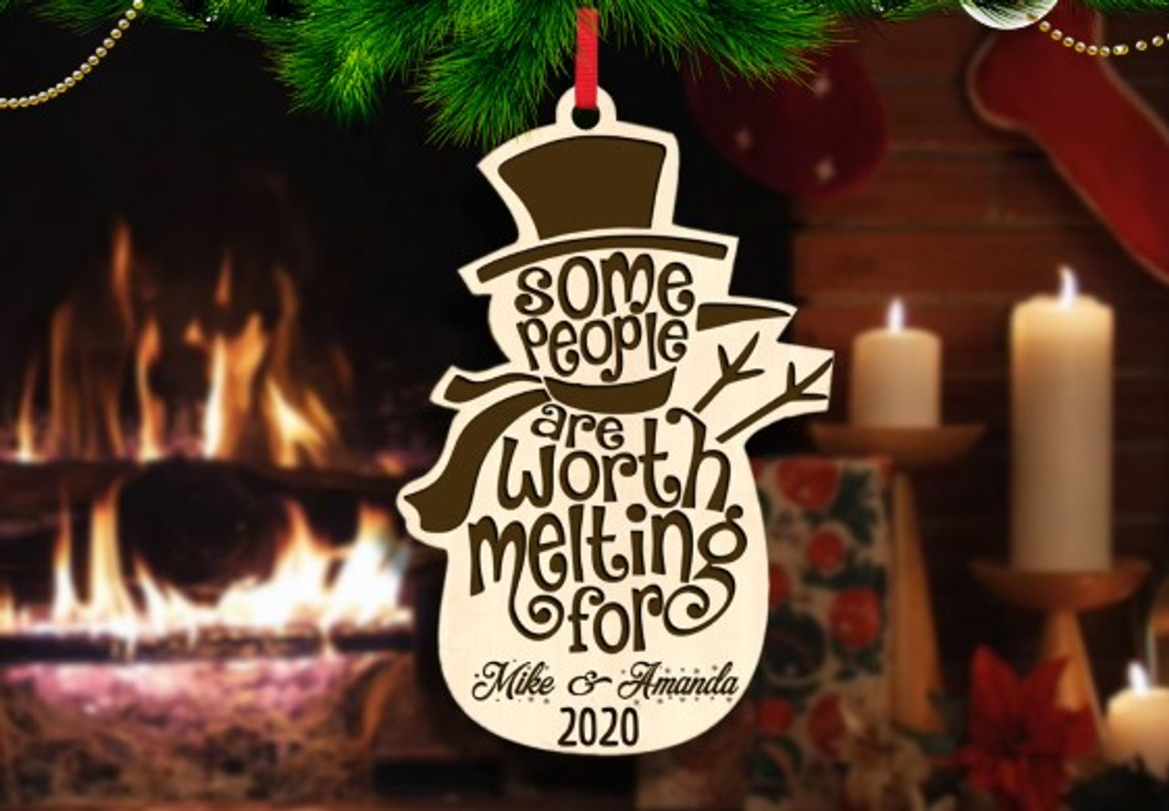 Personalized Christmas Ornament - Snowman Worth Melting For