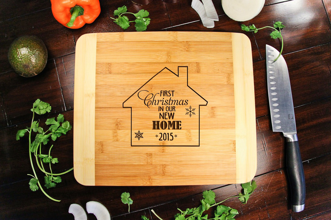 1st Xmas New Home Personalized Cutting Board HDS