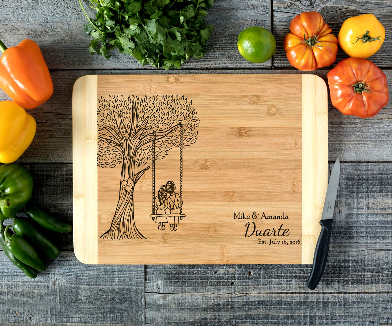 Tree Swing Personalized Cutting Board HDS