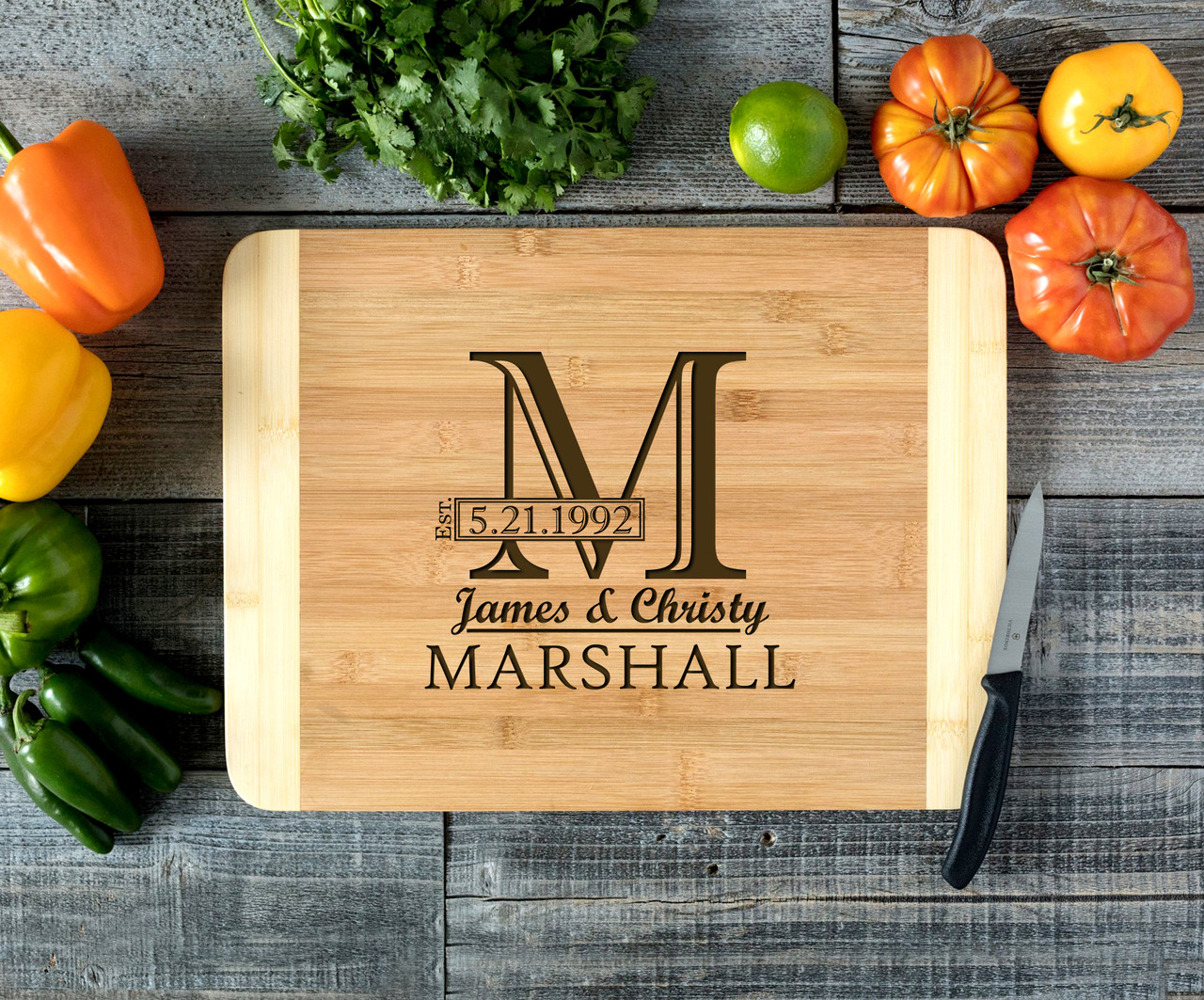 Imprint Initial Personalized Cutting Board HDS