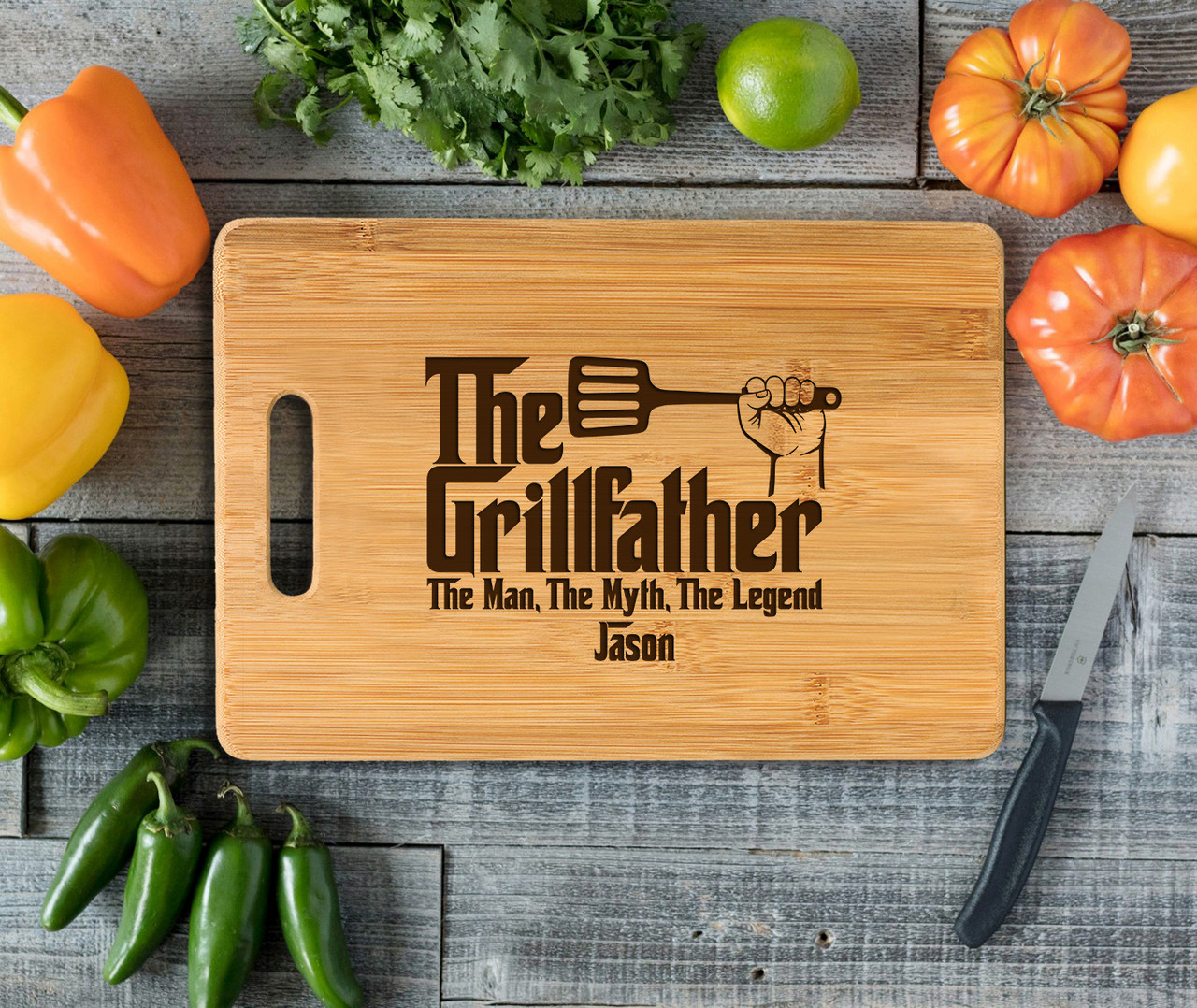 Handle Grillfather Personalized Cutting Board
