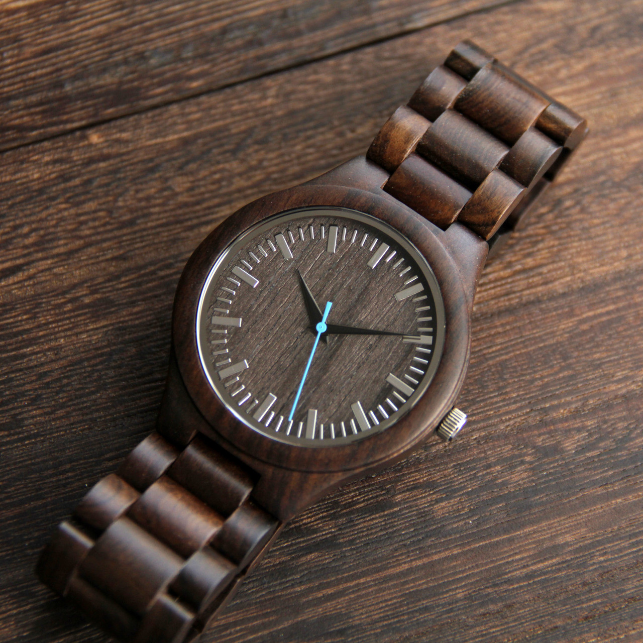 Wood Engraved Watch W#74 - Revive