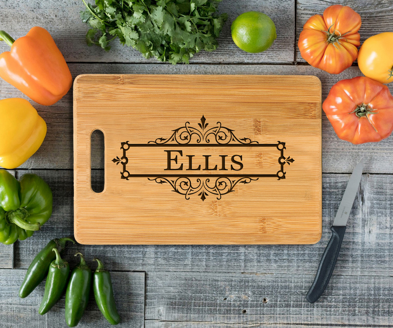 Handle Vine box Personalized Cutting Board