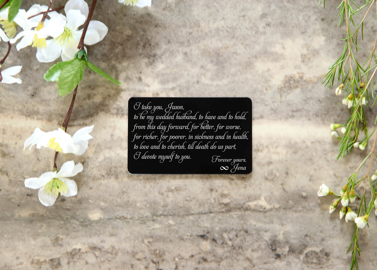 Personalized Wallet Card - I Take You