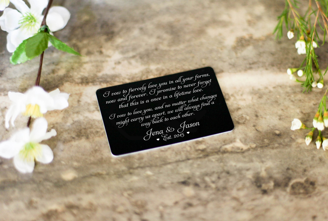 Personalized Wallet Card - I Vow To