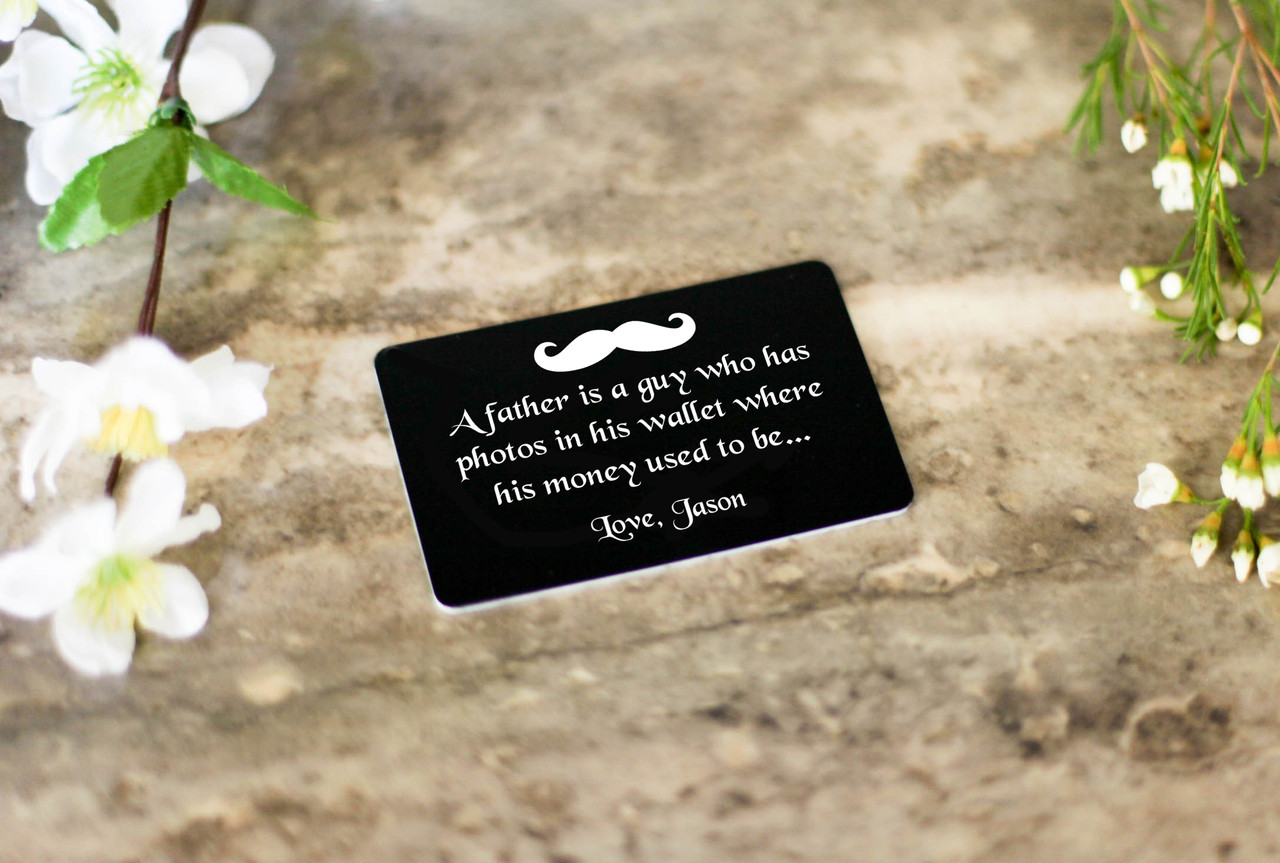 Personalized Wallet Card - A Father is a Guy