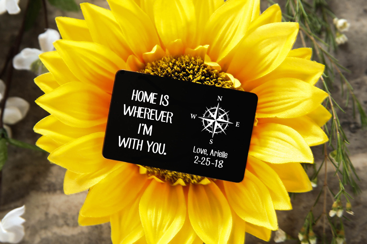 Personalized Wallet Card - Wherever I'm With You