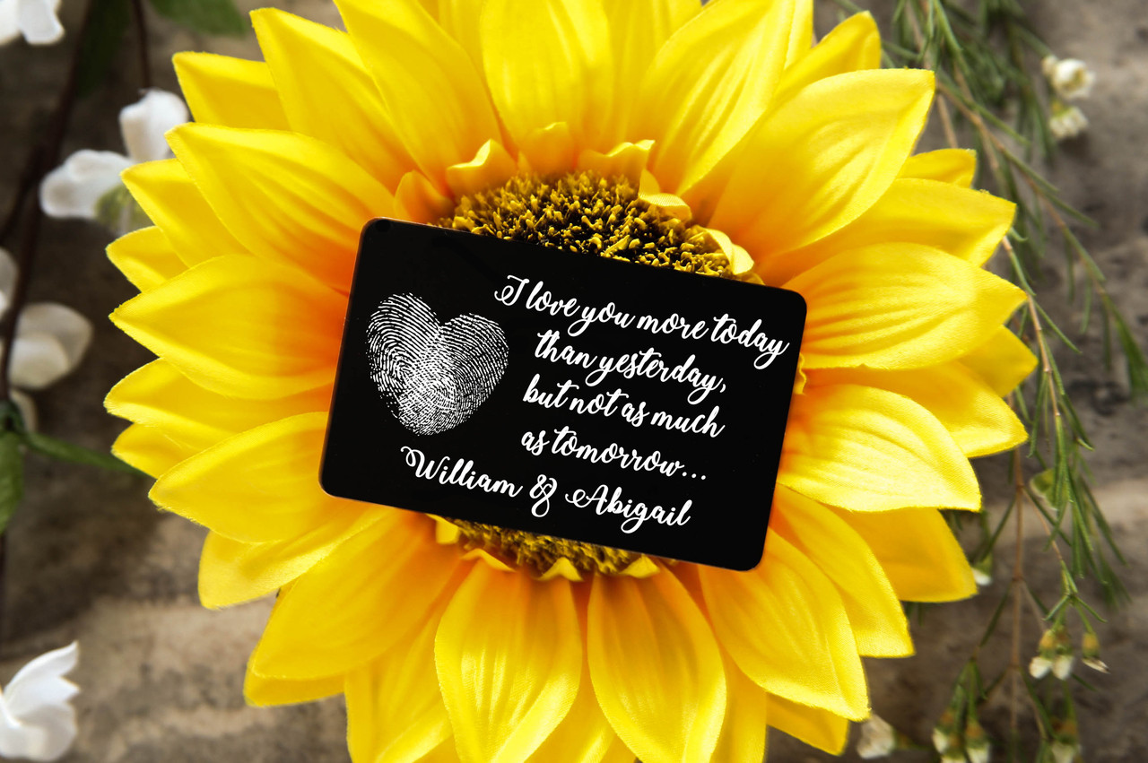 Personalized Wallet Card - More Today than Yesterday